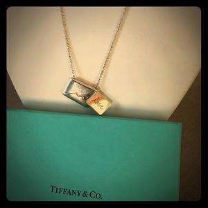 Tiffany SS  *NWT* Envelope silver necklace